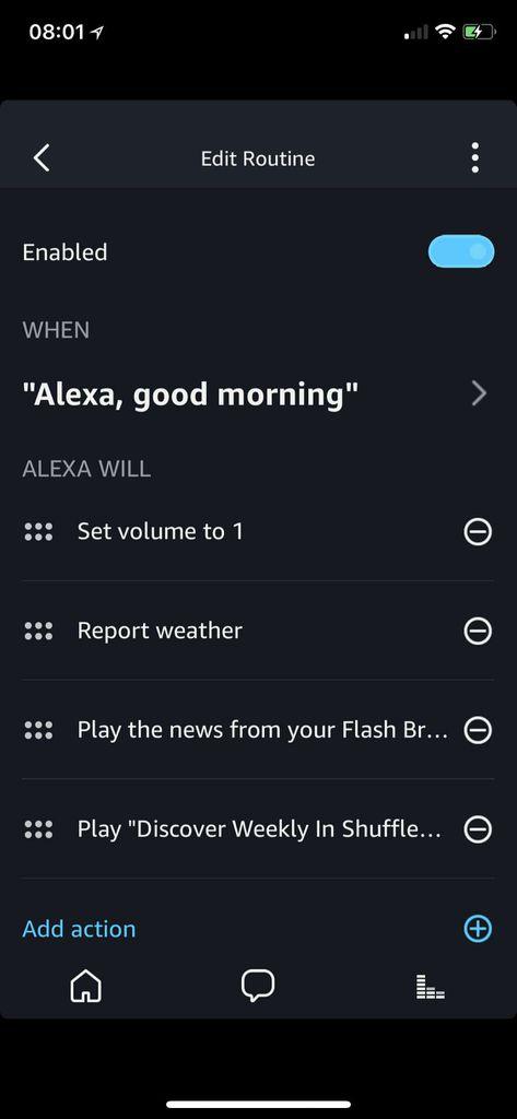 Alexa Routines permet enfin de jouer de la musique !