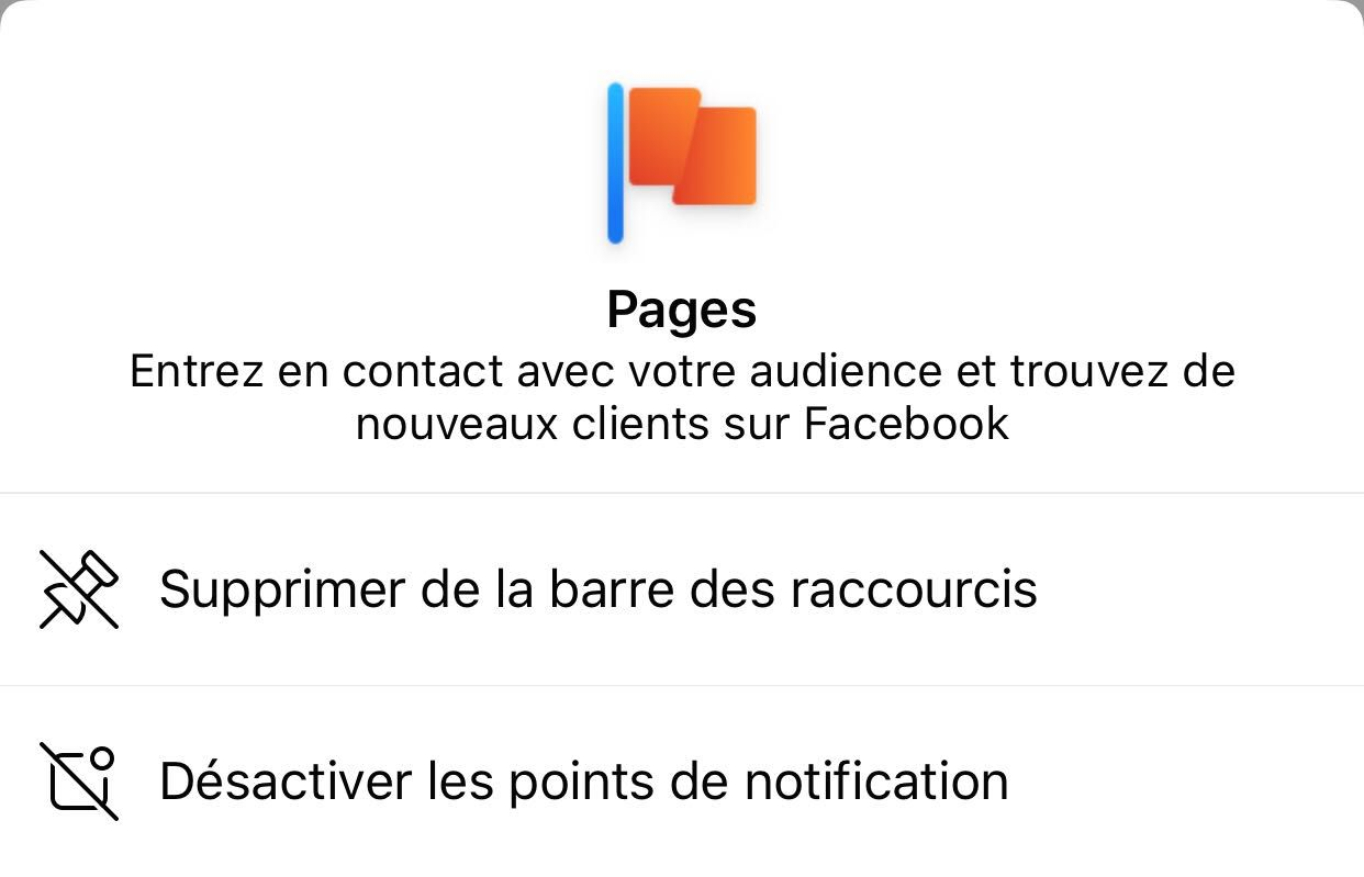 Option de suppression de notifications et modification des raccourics