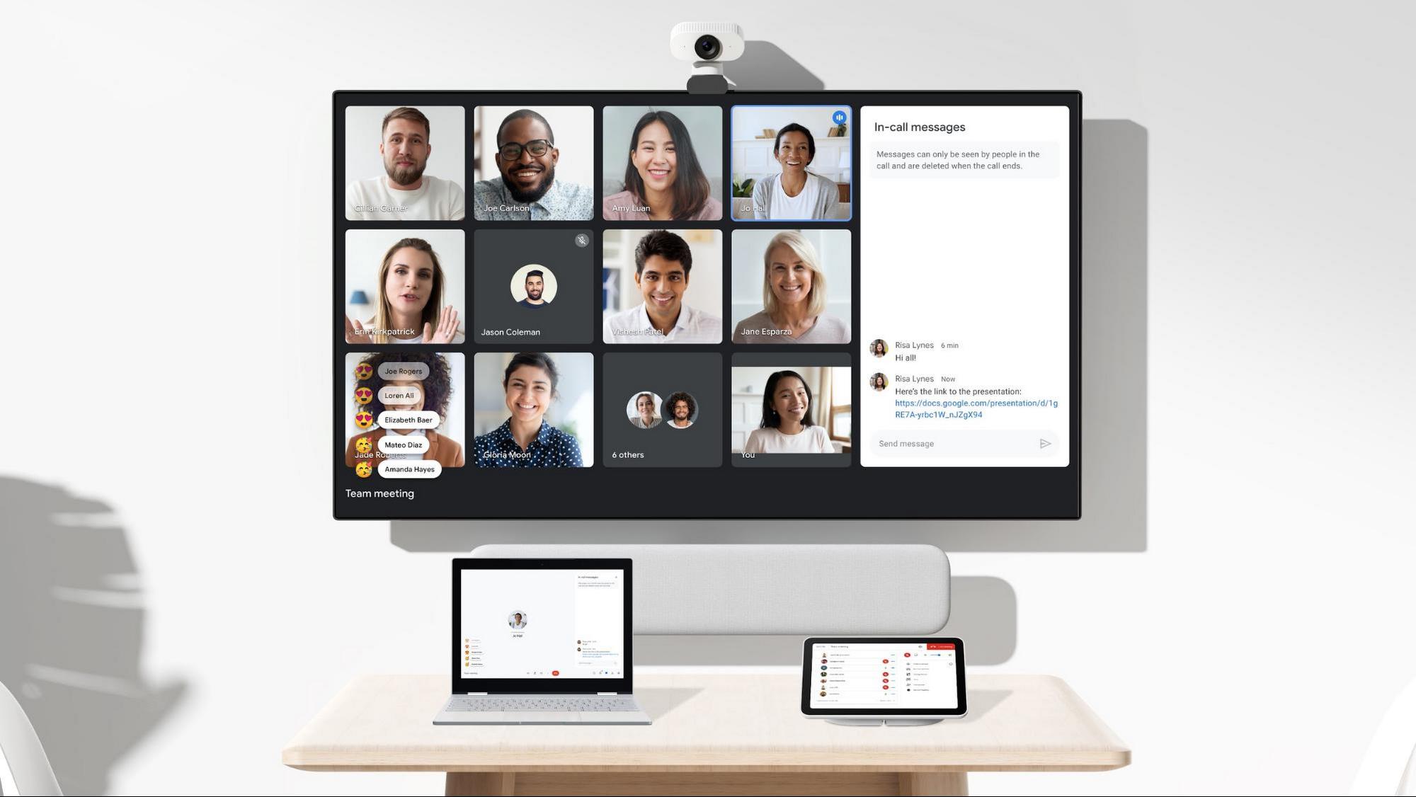 Utilisation de Google Meet avec des écrans secondaires