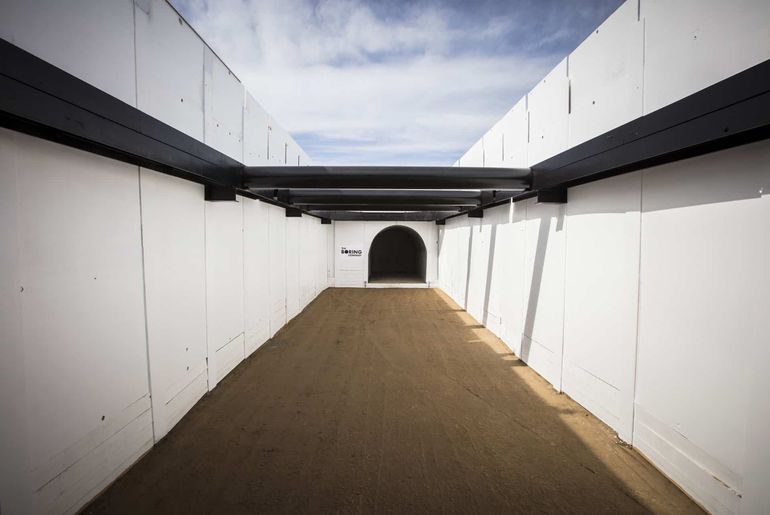 entrée du tunnel de The Boring Company
