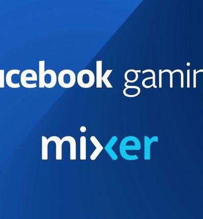 Le logo de Facebook Gaming et celui de Mixer.