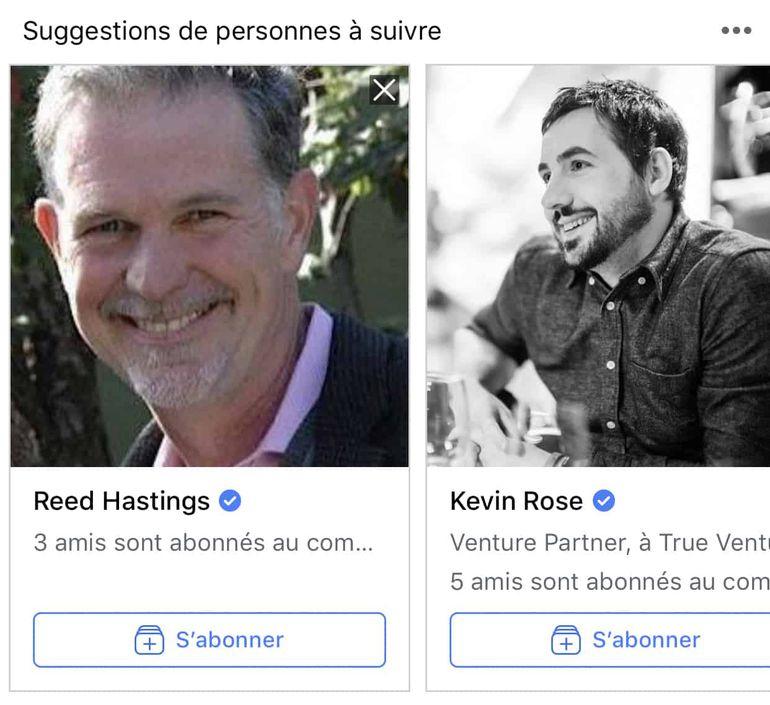 Facebook teste la suggestions de personnalités à suivre