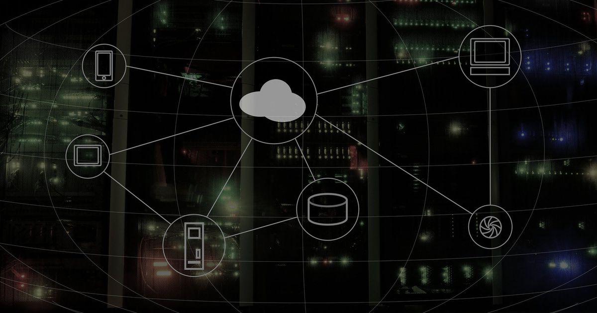 Un schéma représentant le cloud computing.
