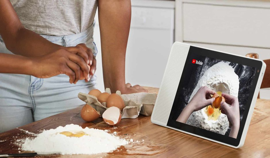 google assistant sur un écran Lenovo