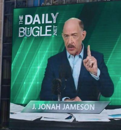 J. Jonah Jameson dans la scène post-générique de Spider-Man : Far From Home