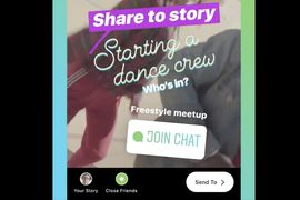 instagram aperçu sticker chat