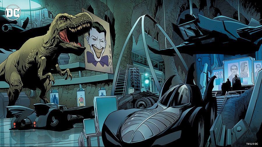 dc comics batcave fonds virtuels