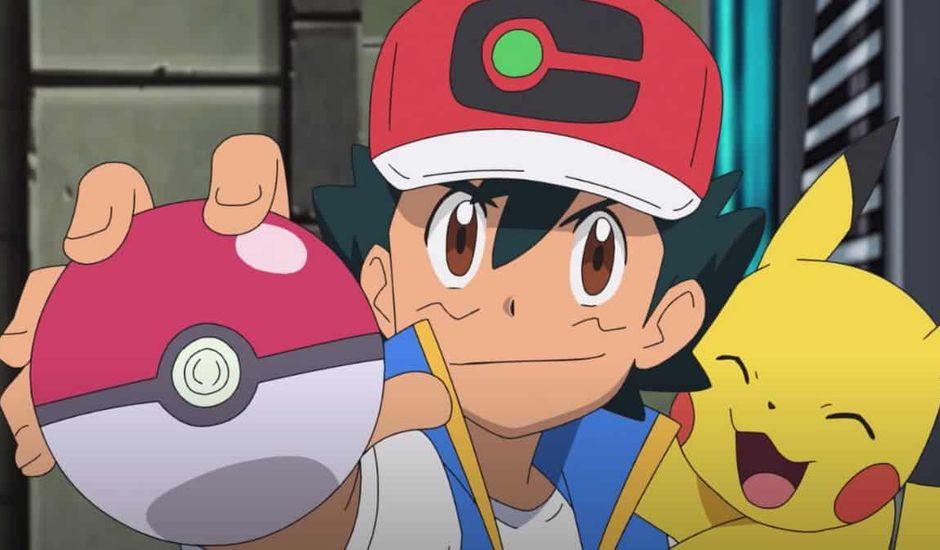 Sacha et Pikachu dans l'anime Pokémon : Les Voyages