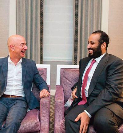 Bezos et le prince héritier.