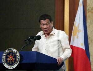 Le président des Philippines Rodrigo Duterte