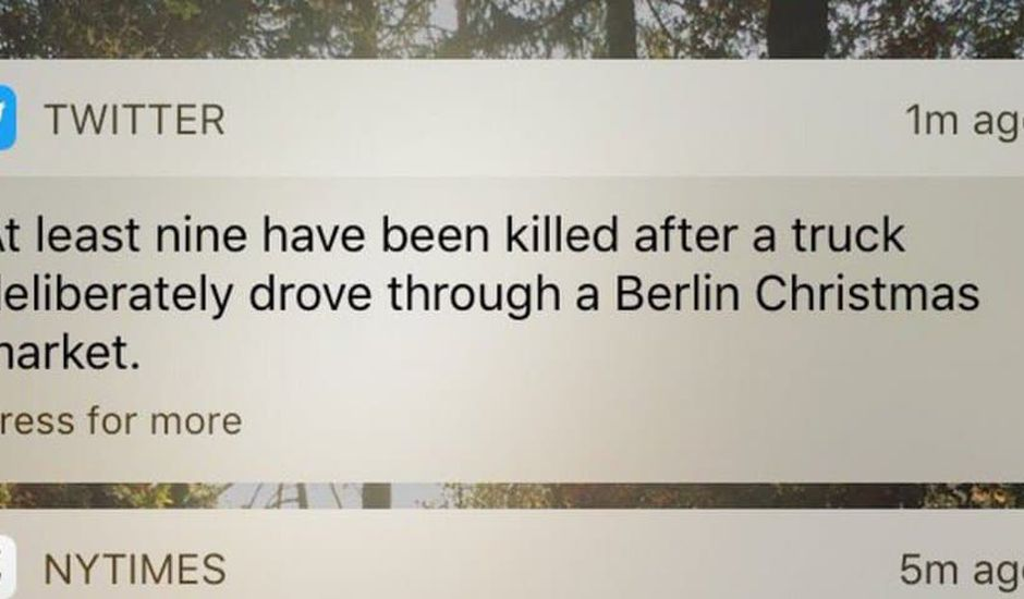 twitter push notification actualite