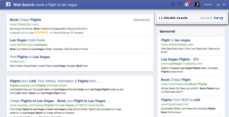 facebook moteur de recherhce bing