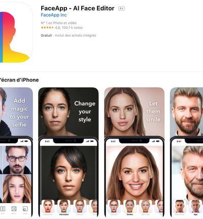 application FaceApp dans l'App Store