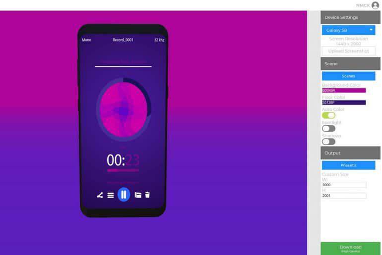 Screencube est un outil qui permet de réaliser des mockups gratuitement sur navigateur