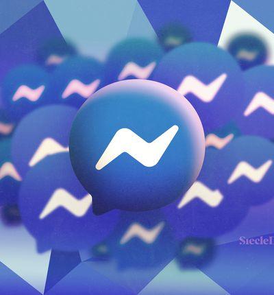 Illustration du logo de Messenger