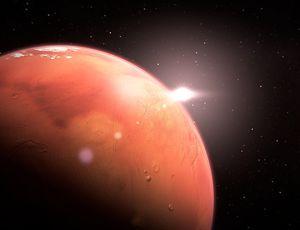 Une vision d'artiste de la planète Mars.