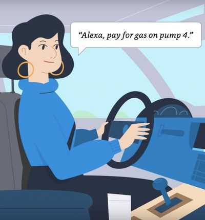 Les Américains vont payer l'essence avec Alexa.