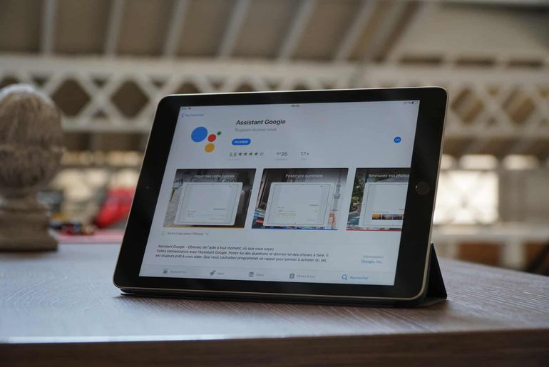 google assistant apercu ipad