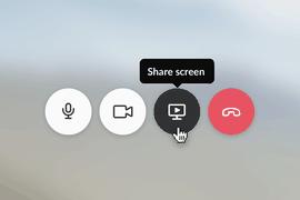 Slack partage écran