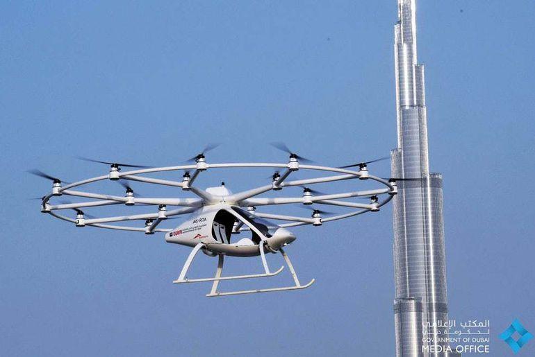 Volocopter en vol à Dubai