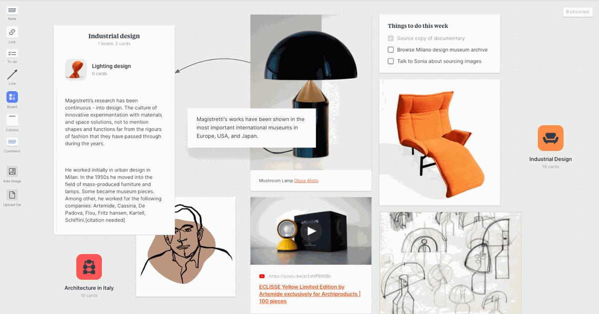 Milanote : un outil pour organiser vos projets sous forme de tableaux visuels