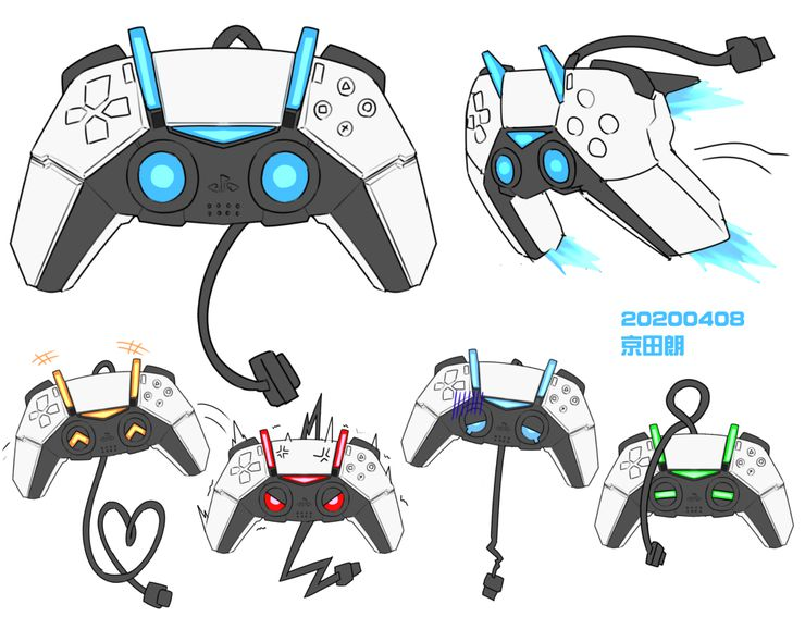 dualsense manette playstation 5 sony artworks kyoutasab