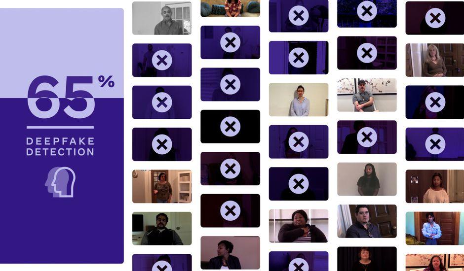 Illustration du Deepfake Detection Challenge de Facebook.