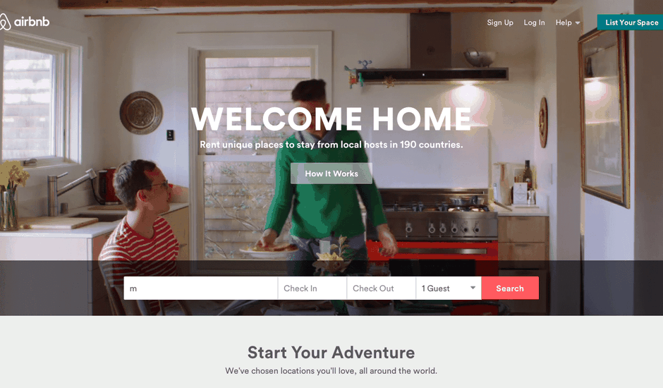 Airbnb partage note