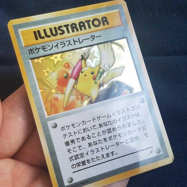 carte pokémon pikachu illutrator