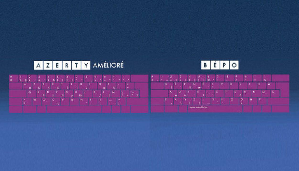 Les deux nouveaux claviers français officiels : AZERTY amélioré et BÉPO