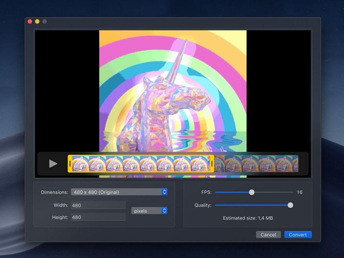 Cette app gratuite vous permet de transformer des vidéos en GIFs HD gratuitement