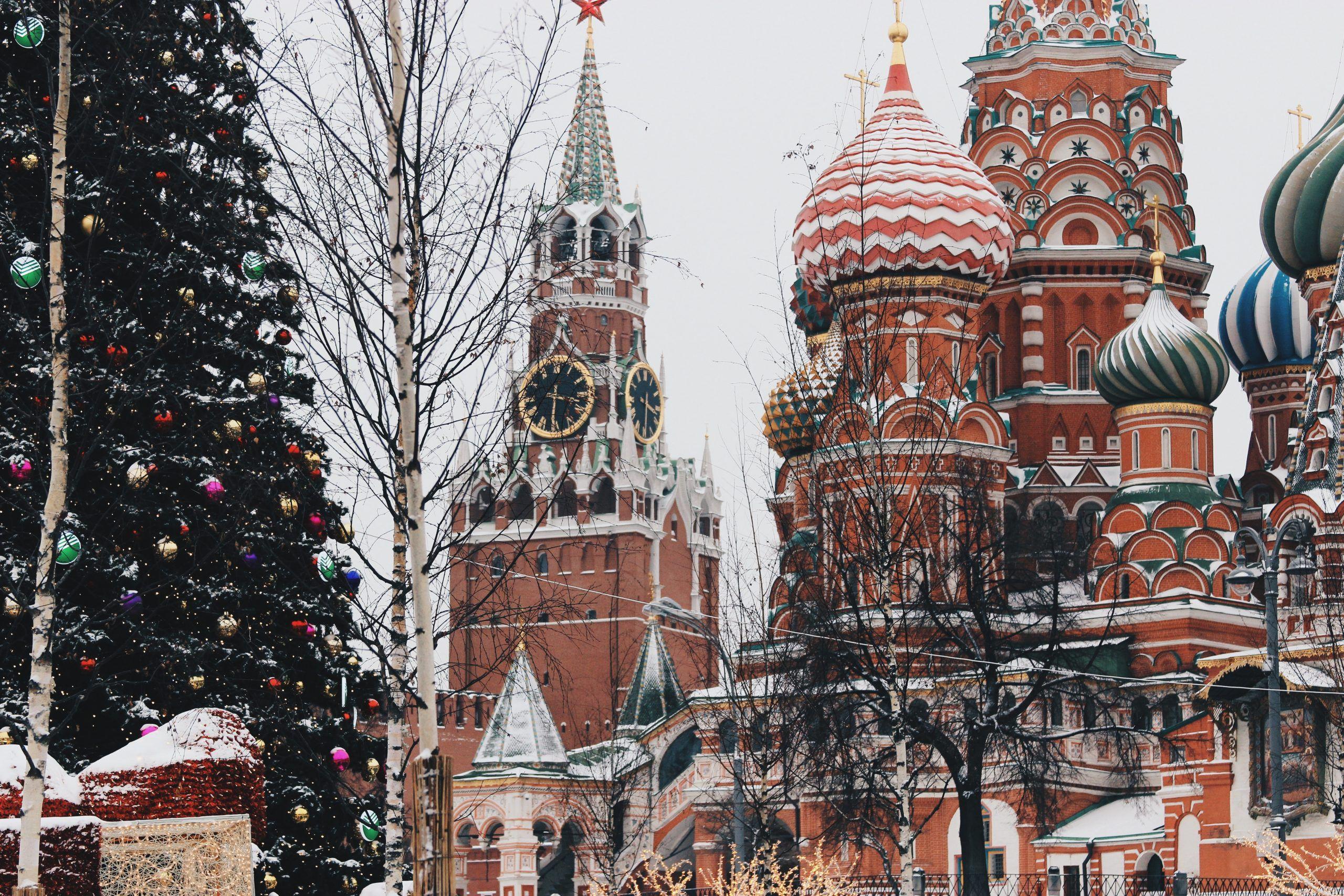 Le Kremlin sous la neige