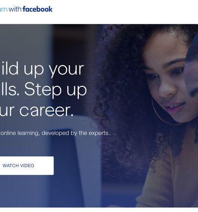Avec sa plateforme de formation Learn with Facebook, le réseau social entre en concurrence directe avec LinkedIn