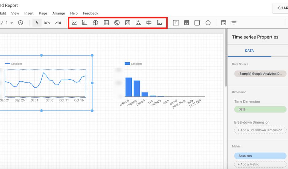 L'intégration et le partage des données Data studio ont été améliorés