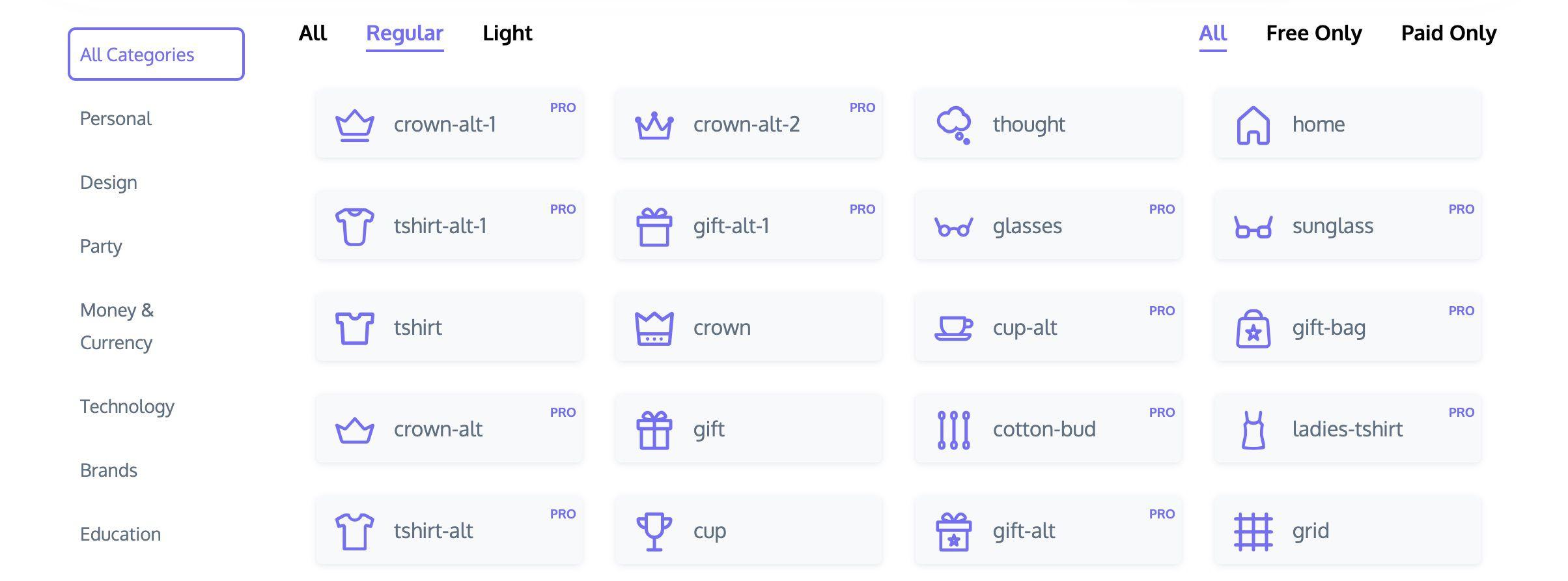 exemples d'icône sous LinceIcons