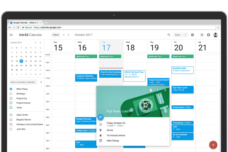Google Agenda nouveau design