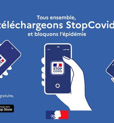 Aperçu de l'application StopCovid.