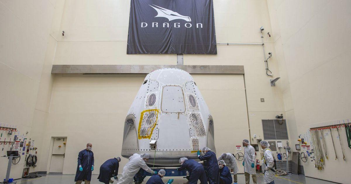 SpaceX : la capsule Crew Dragon vient d'arriver sur son site de lancement