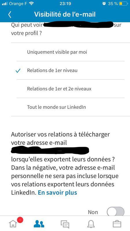 LinkedIn introduit un nouveau paramètre de confidentialité qui empêche le téléchargement des mails de leurs relations
