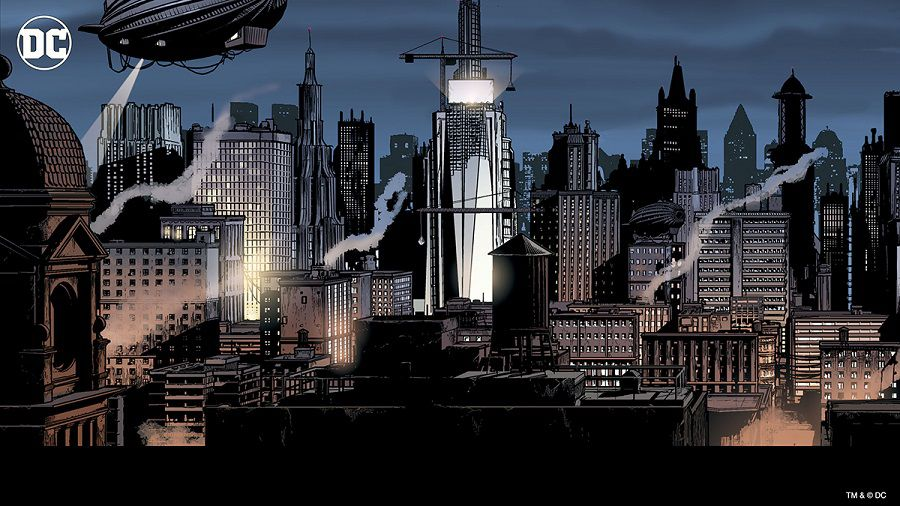 dc comics gotham city fonds virtuels zoom
