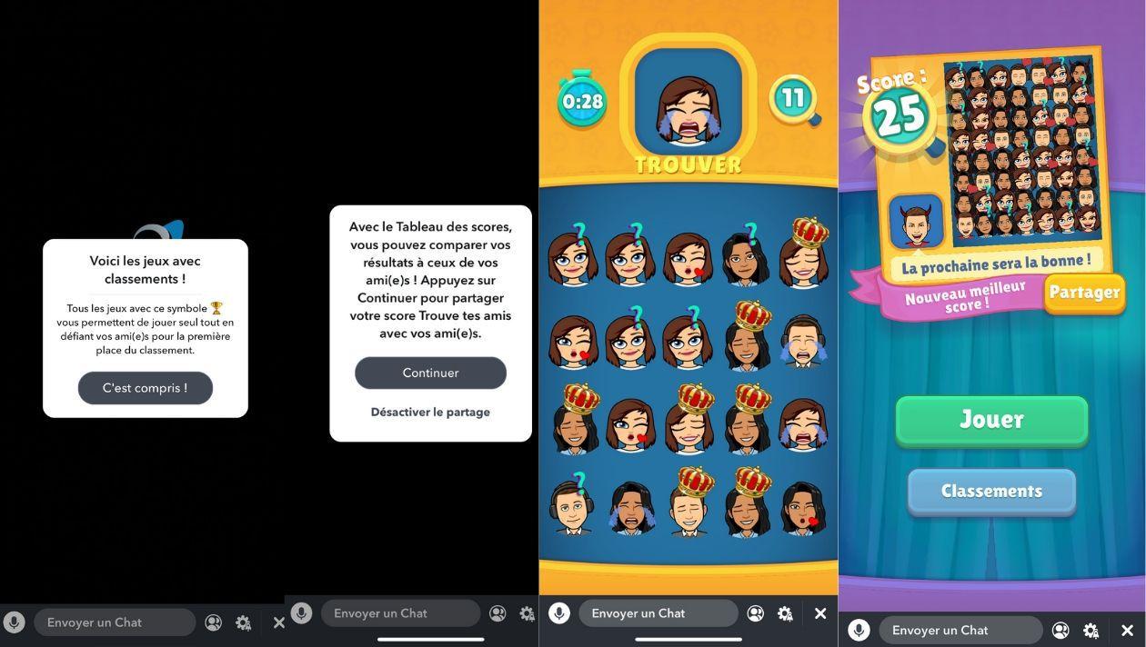 Snapchat Devoile Deux Nouveaux Jeux Avec Classement Les Leaderboard Games