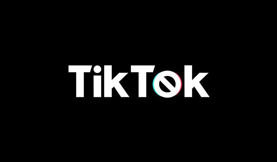 Une illustration du logo TikTok sur un fond noir.