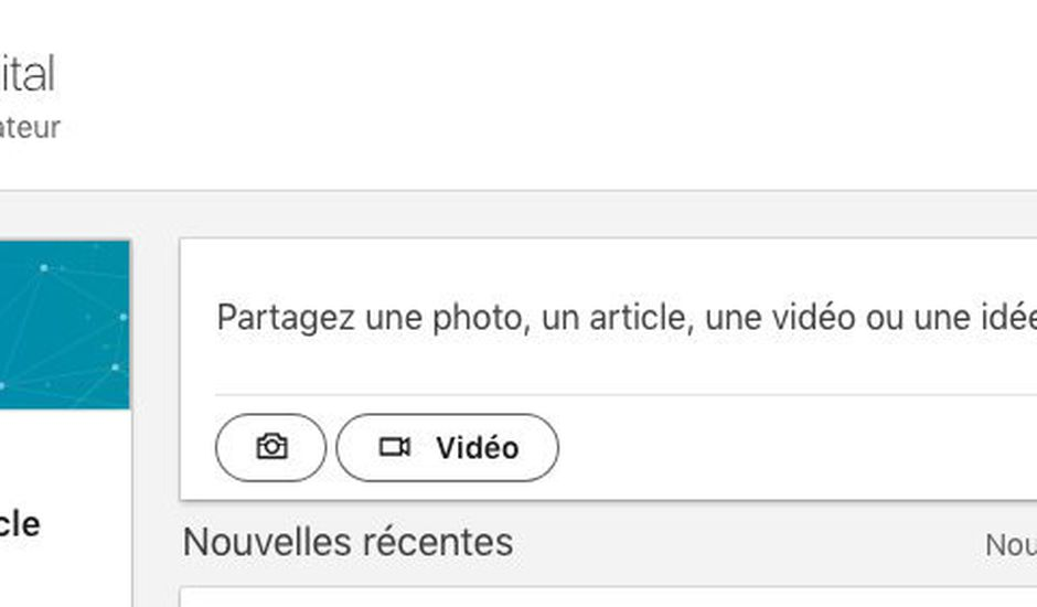 partager video linkedin page entreprise