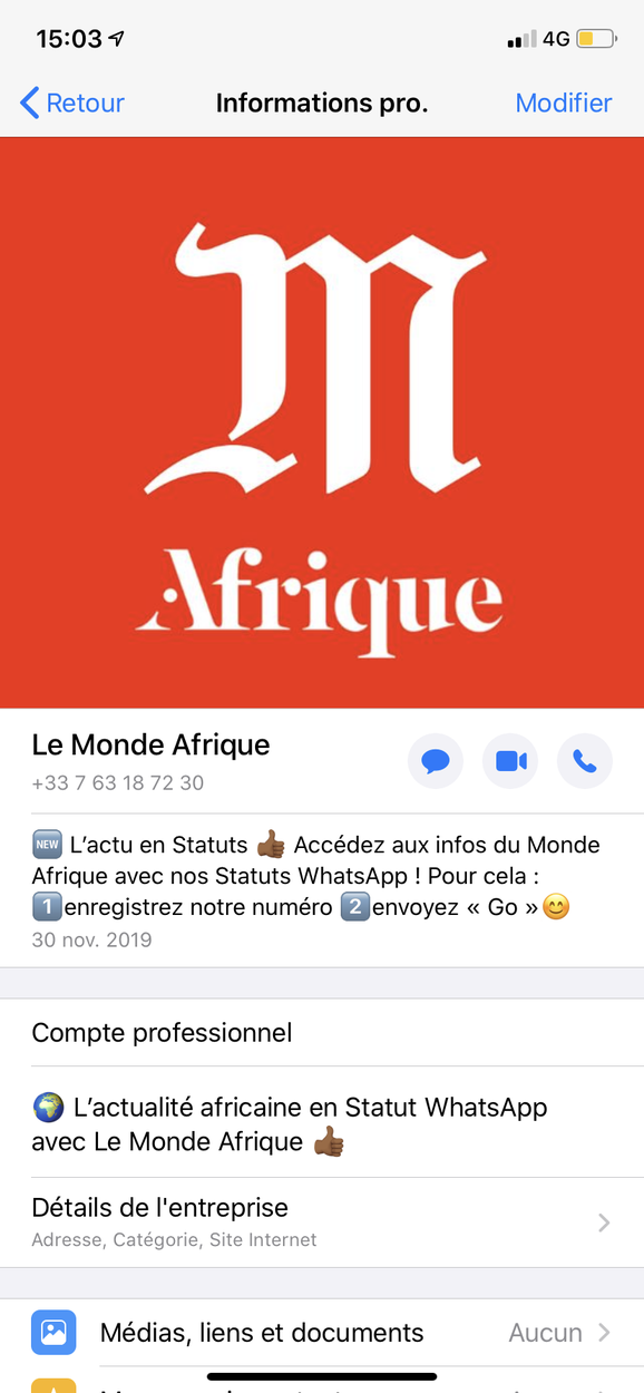 Le Monde Afrique sur WhatsApp