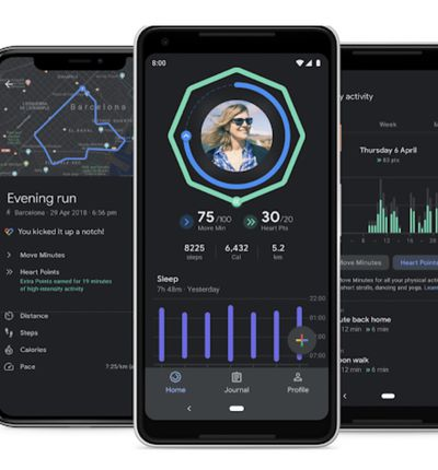 aperçu de l'application Google Fit