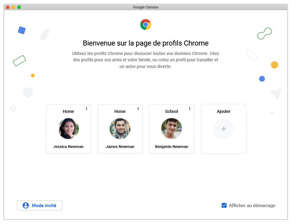 Google facilite la gestion des profils au démarrage de Google Chrome