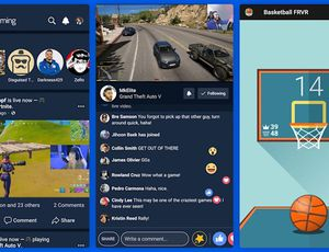 Aperçu de la nouvelle application mobile Facebook Gaming.