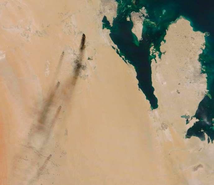 Image satellite des deux sites attaqués