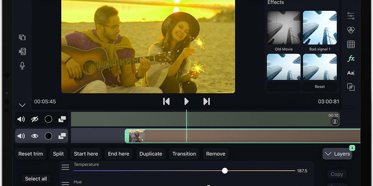 Filma : l'application pour facilement éditer vos vidéos sur iPad