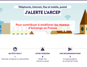 dispositif j'alerte l'arcep